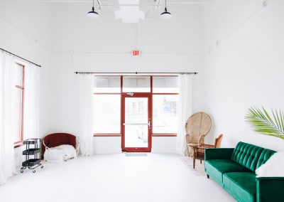 The front studio, from the hallway